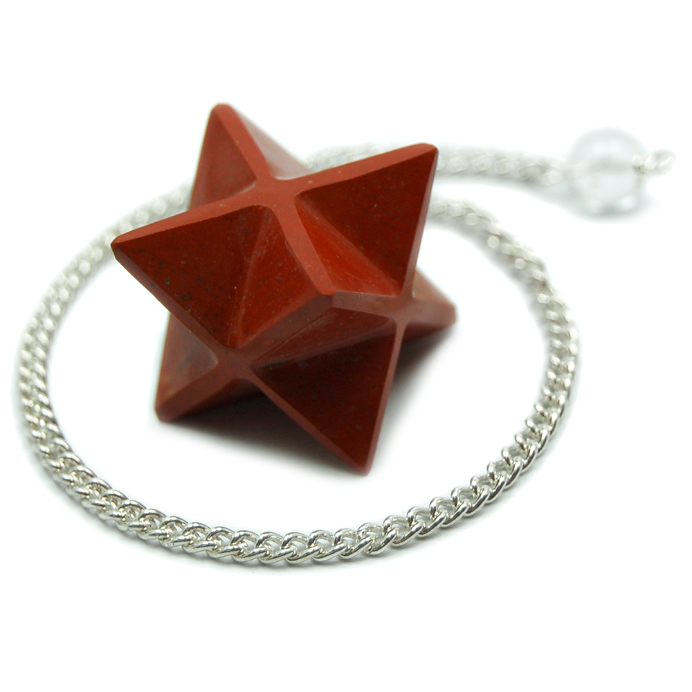 Discontinued - Red Jasper Merkaba Pendulums (India)