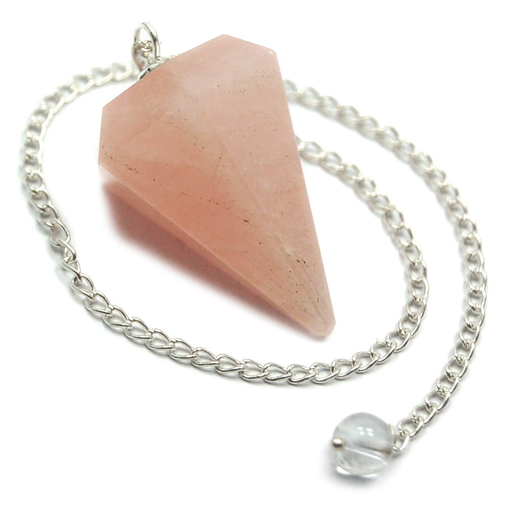 Pendulum - Rose Quartz 6-Facet Pendulums (India)