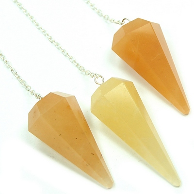 Discontinued - Yellow Aventurine 6-Sided Pendulums (India)