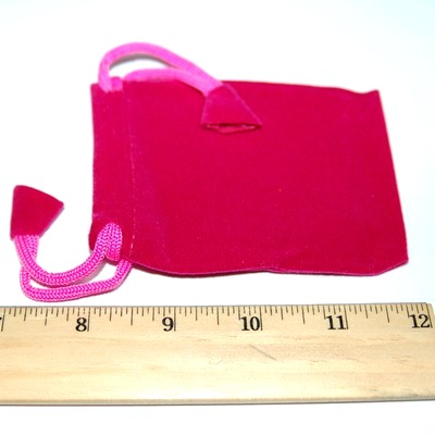 Pouches - 3x4 Velveteen Crystal Pouches w/Drawstring
