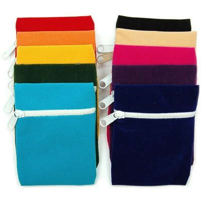 Discontinued - 3x4 Velveteen Crystal Pouches w/Zipper