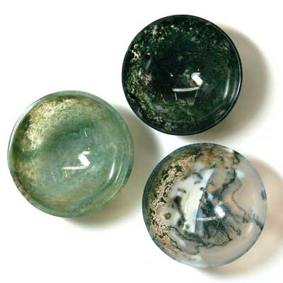 Prayer Bowl - Moss Agate Prayer Bowls