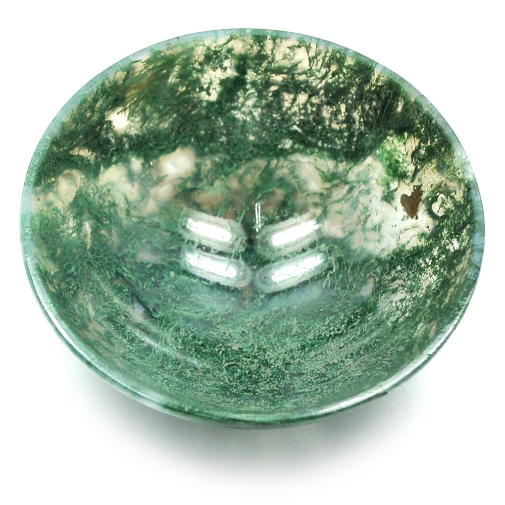 Moss Agate Prayer Bowls