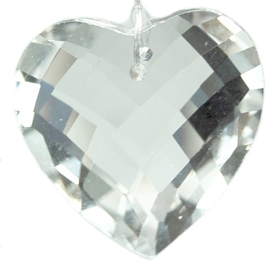 Prism - Faceted Heart Crystal Prisms (United States)