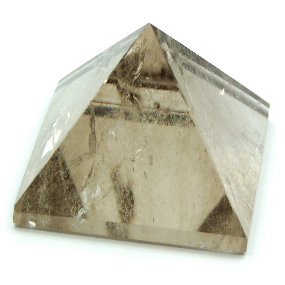 "Pyramid - Smokey Quartz Pyramids ""Light"" (Brazil)"