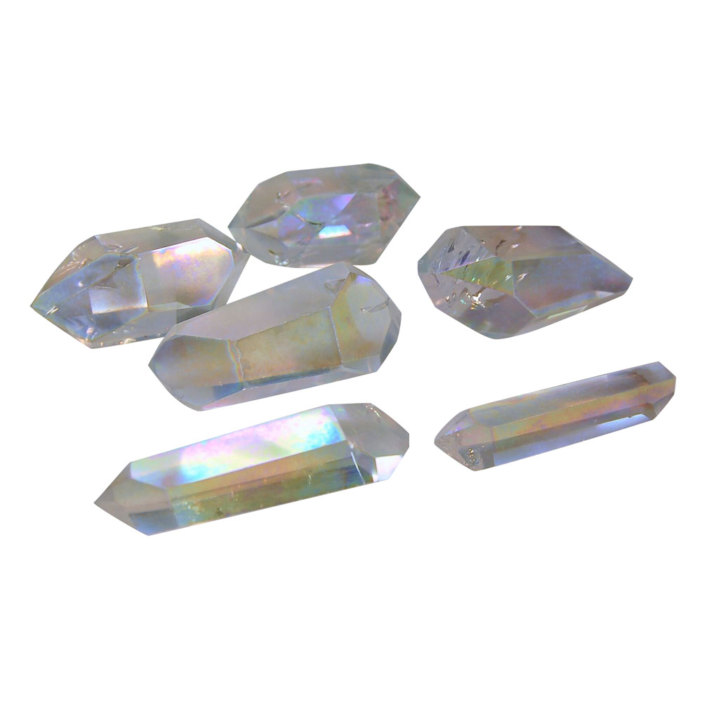 Rainbow Aura Double Terminated Polished Points