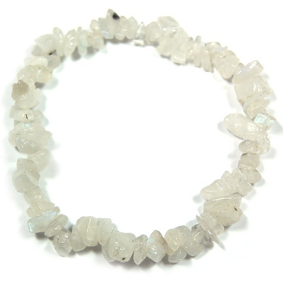 Bracelets - Rainbow Moonstone Single Strand Bracelet (India)