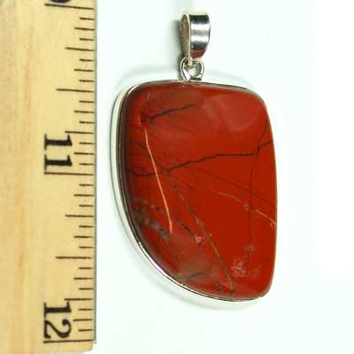 Discontinued - Red Jasper Cabochon Pendant - Free-Form (India)