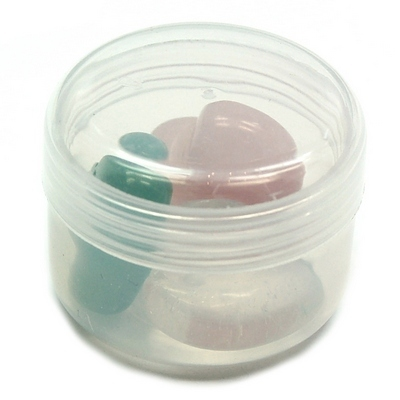 Round Plastic Container (For Small Crystals)