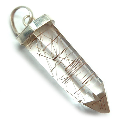 "Pendants - Rutilated Quartz 6-Sided ST Pendant ""Extra\"" (Brazil)"