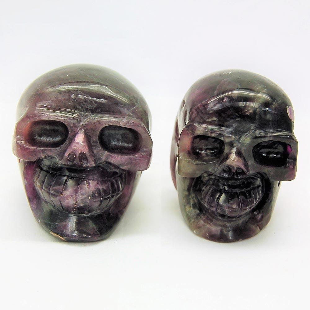 Purple Fluorite Skulls
