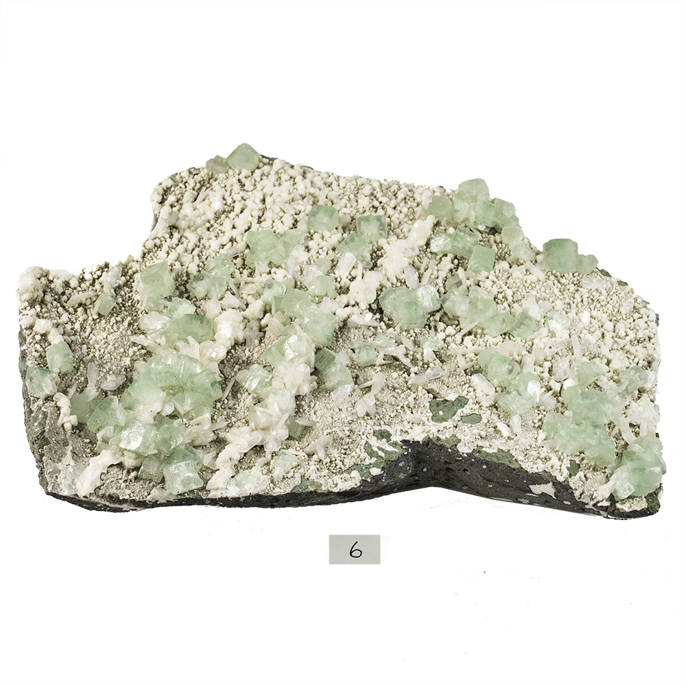 Specimen - Green Apophyllite Clusters w/Matrix (India)