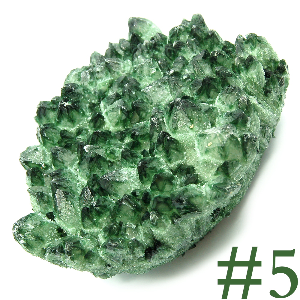 Specimens - Green Chromium Quartz Clusters (China)