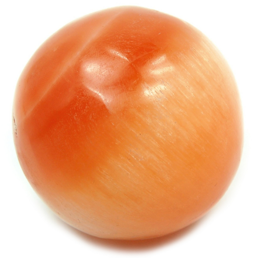 Sphere - Selenite Spheres - Orange (Morocco)