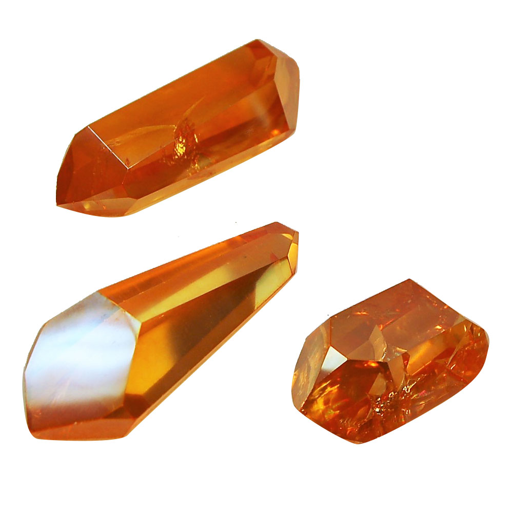 Tangerine Aura Double Terminated Polished Points