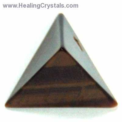 Tetrahedron Platonic Solid - Golden Tiger Eye (China)