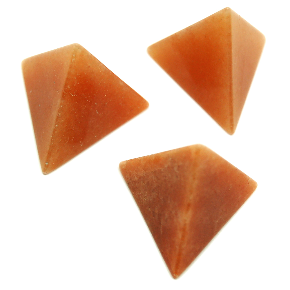 Tetrahedron Platonic Solid - Orange Aventurine (China)