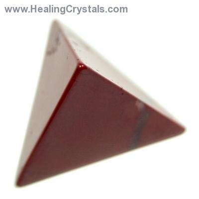 Tetrahedron Platonic Solid - Red Jasper (China)