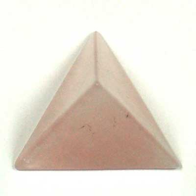 Tetrahedron Platonic Solid - Rose Quartz (China)