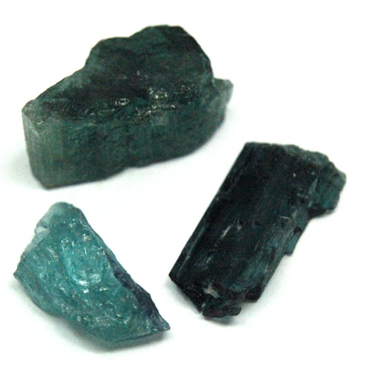 Tourmaline - Blue-Green Tourmaline Chips (Brazil)