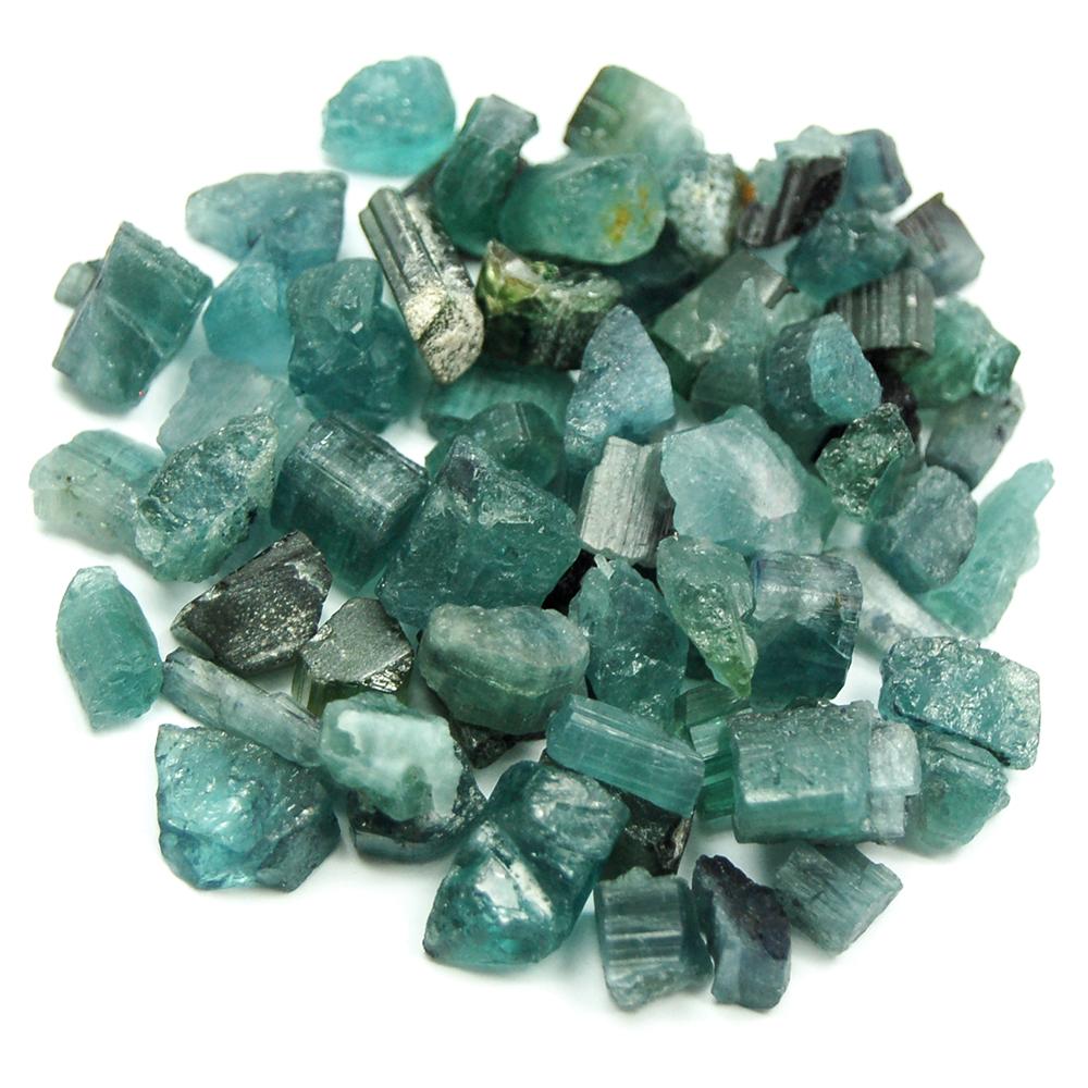 Tourmaline - Blue-Green Tourmaline Chips (Brazil)- Blue Tourmaline ...