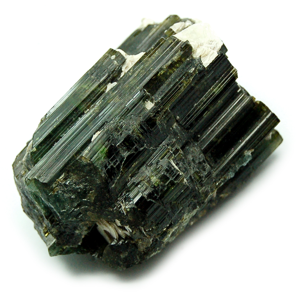Tourmaline - Green Tourmaline Rods w/Matrix (Pakistan)