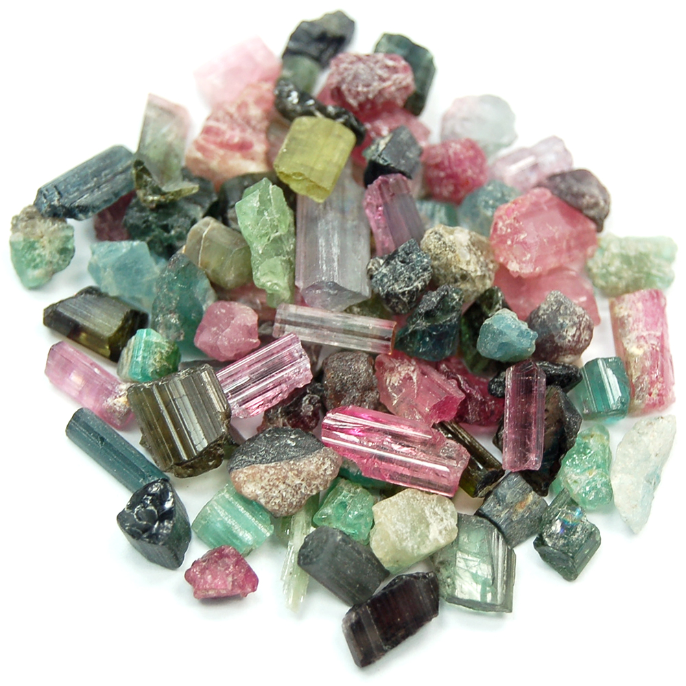 "Tourmaline - Tourmaline Chips ""Mixed Colors\"" (Brazil)"