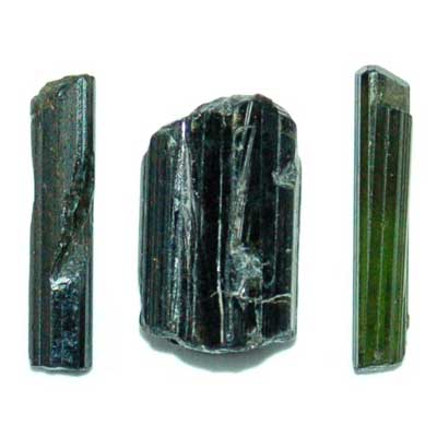"Tourmaline - Dark Green Tourmaline Rods ""Extra/A"" (Thin)"