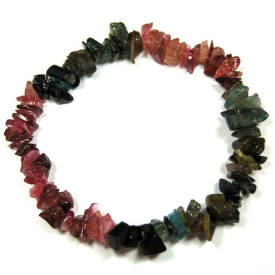 Bracelets - Multi-Color Tourmaline Chip Bracelet (India)