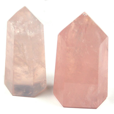 "Tower - Rose Quartz Towers ""B"" Grade (Brazil)"