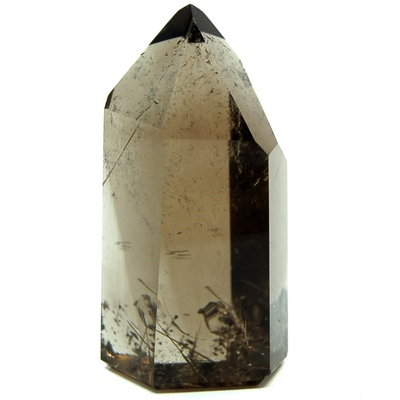 "Towers - Rutilated Dark Smokey Quartz Tower ""Extra/A\"" (Brazil)"
