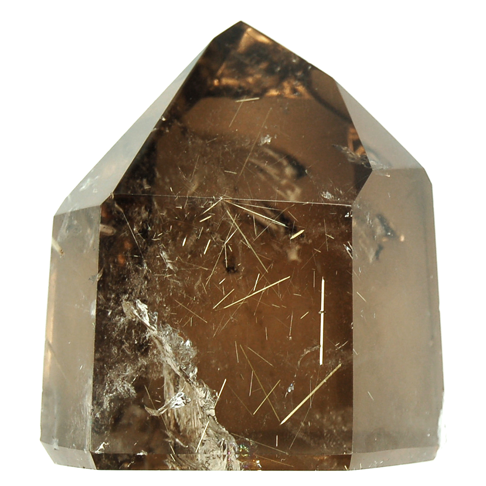 "Towers - Rutilated Dark Smokey Quartz Tower ""Extra/A"" (Brazil)"