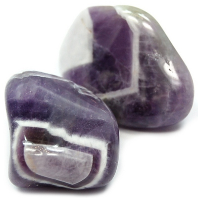 Tumbled Amethyst - Chevron Amethyst (Banded Amethyst) photo 6