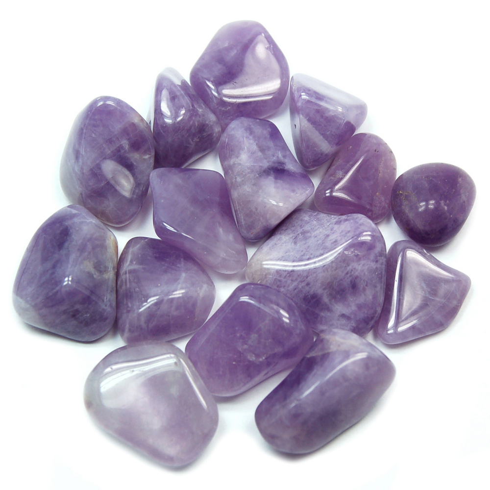 Tumbled Banded/Chevron Amethyst (Africa) - Tumbled Stones
