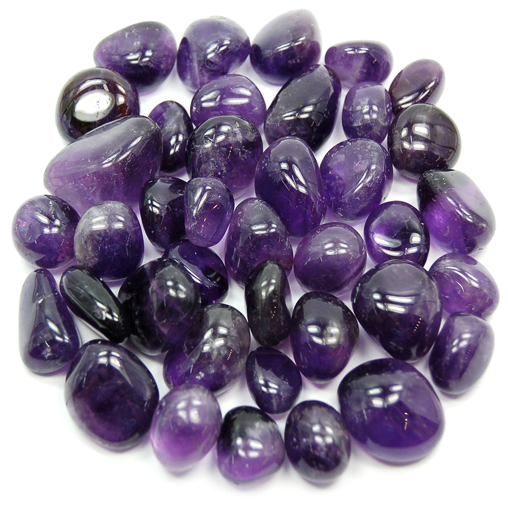 "Tumbled Amethyst Light & Dark ""Extra"" (Brazil) - Tumbled Stones"