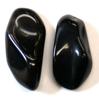 Tumbled Apache Tears - Black Obsidian Nodules - Tumbled Stones