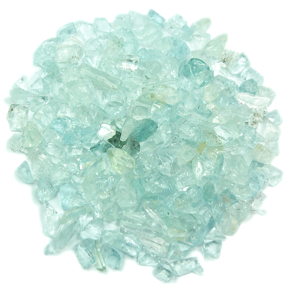 "Tumbled Aquamarine Chips ""Extra"" (Brazil)"