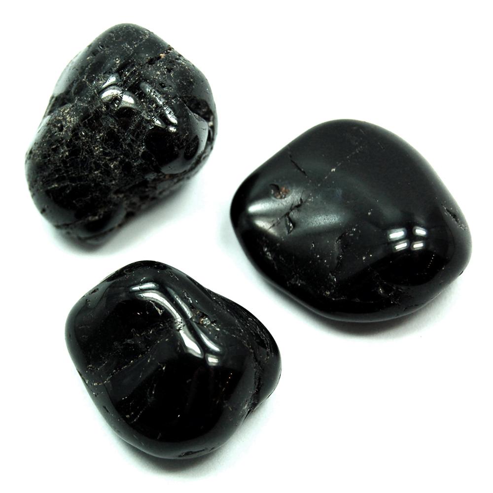 Tumbled Black Tourmaline (Brazil) - Tumbled Stones- Black ...