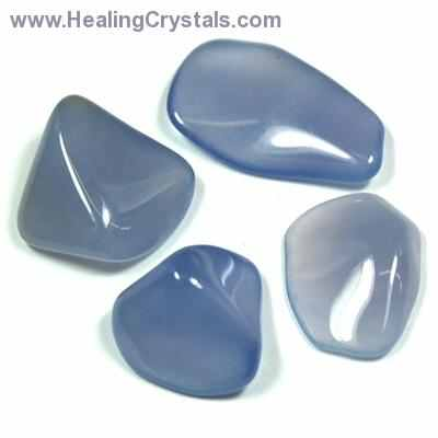 "Tumbled Blue Chalcedony ""Extra"" - Tumbled Stones photo"