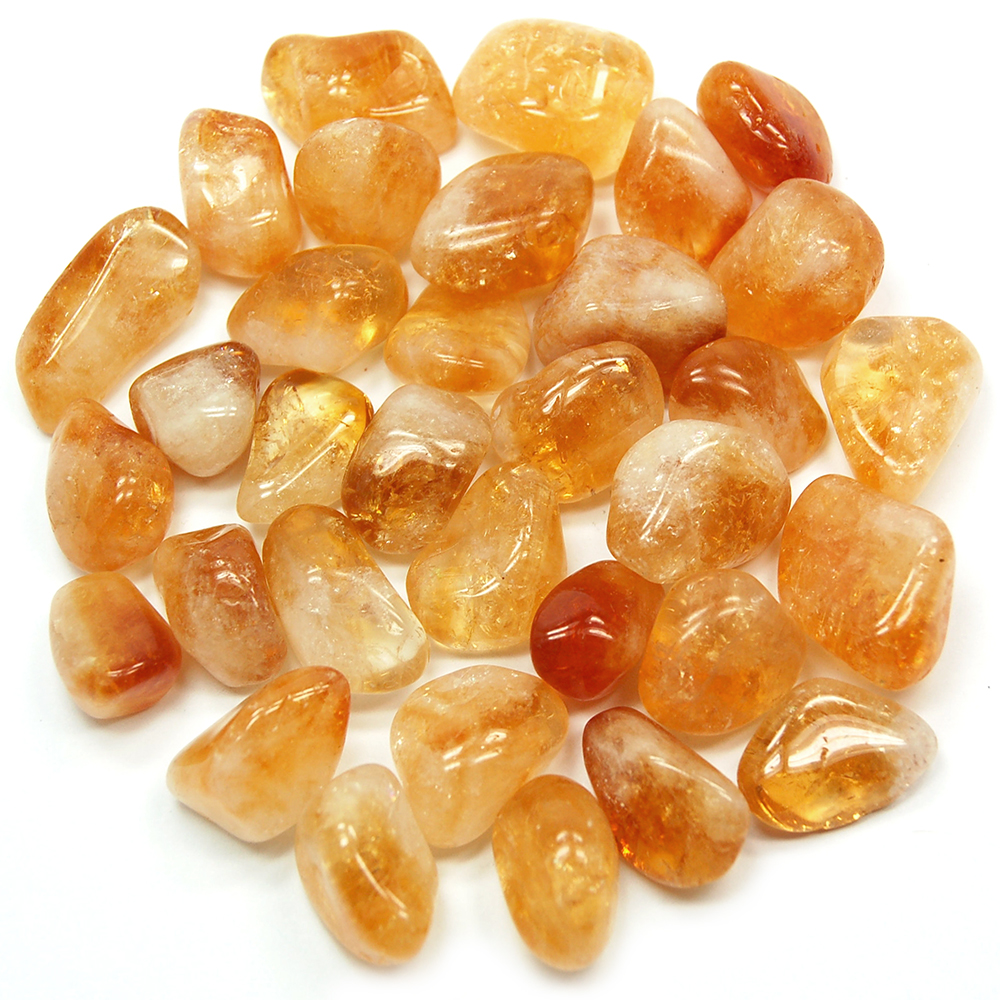 Tumbled Citrine Brazil Tumbled Stones Citrine Healing Crystals