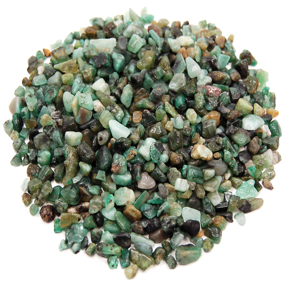 Tumbled Emerald Mini Chips (Brazil)