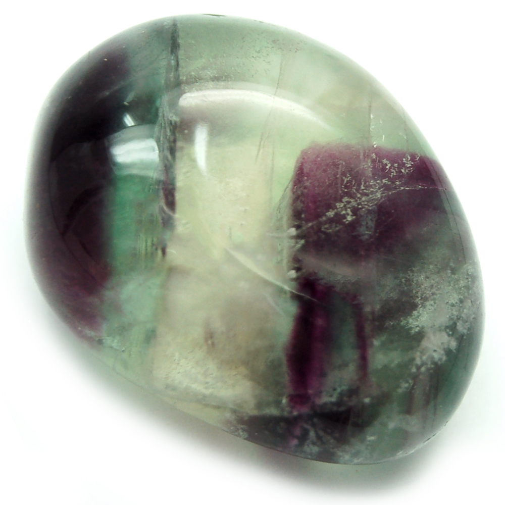"Tumbled Fluorite Crystal ""Rainbow"" Color - Tumbled Sto"