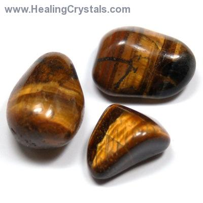 Tumbled Brown Tiger Eye (Gold Tiger Eye) - Tumbled Stones photo