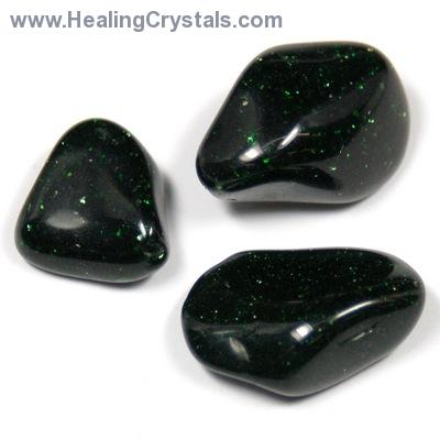 Tumbled Green Goldstone (India) - Tumbled Stones