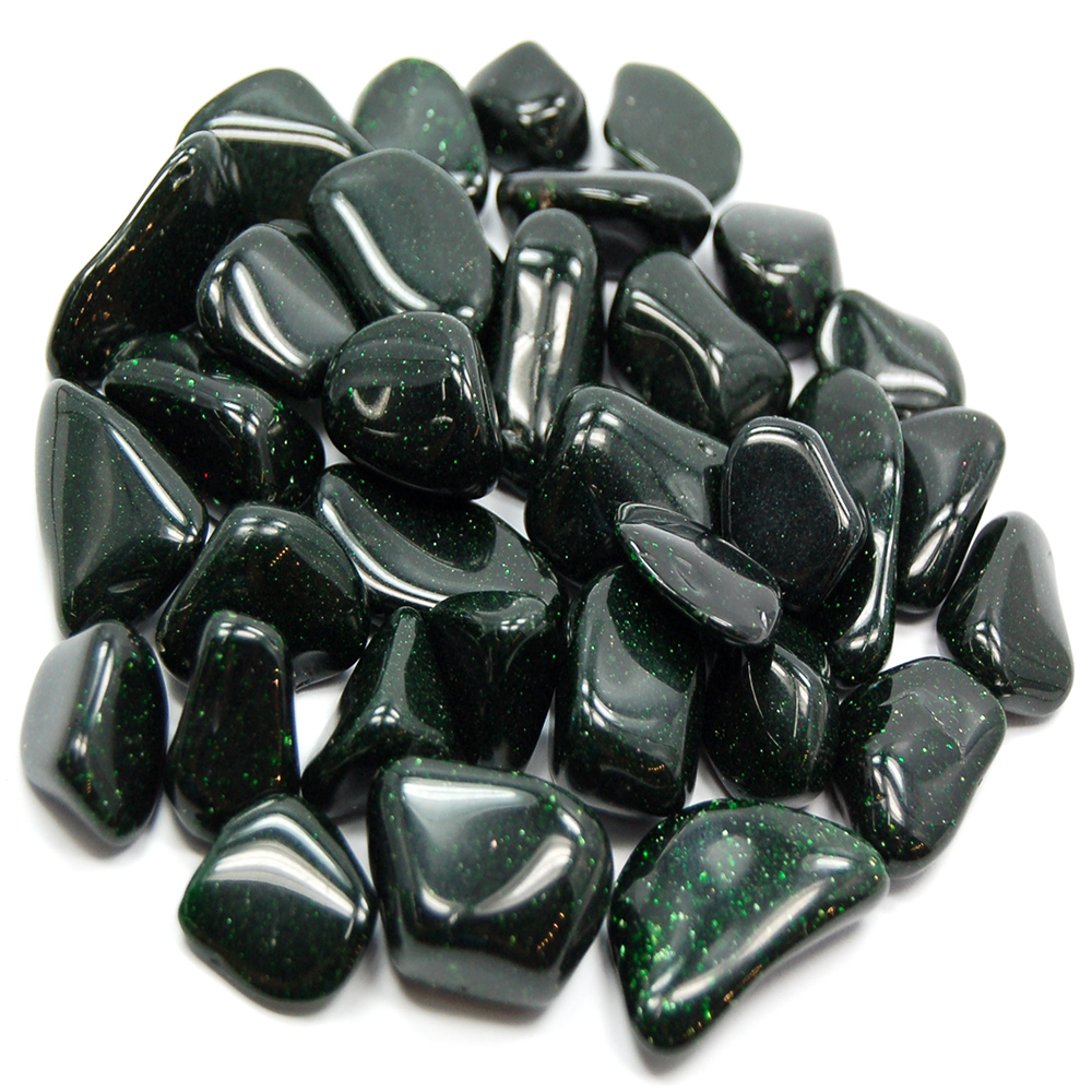 CLEARANCE - Tumbled Green Goldstone (India)