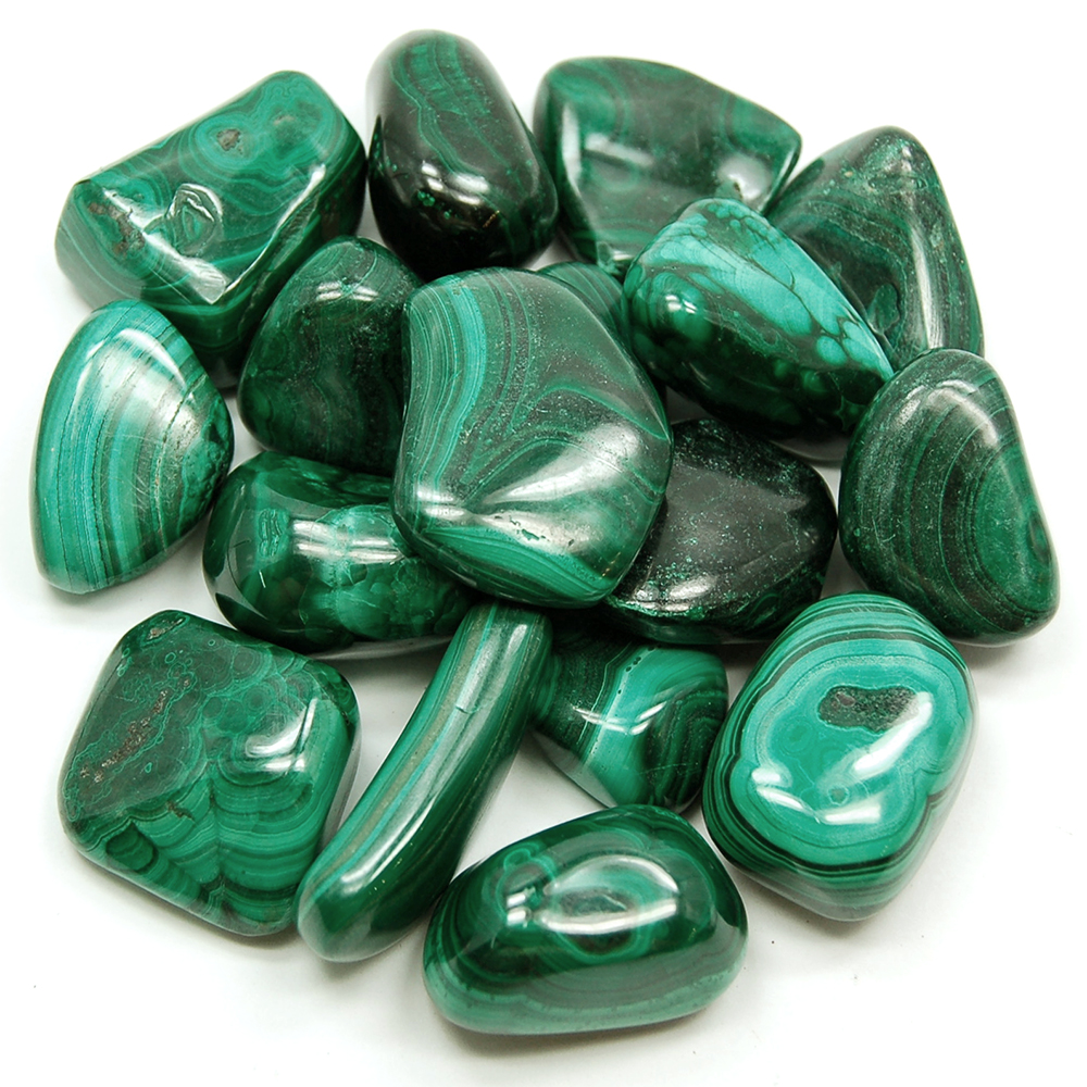 Tumbled Malachite (Zaire) - Tumbled Stones