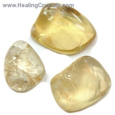 "Tumbled Natural Citrine ""Extra"" (Brazil) - Tumbled Stones"