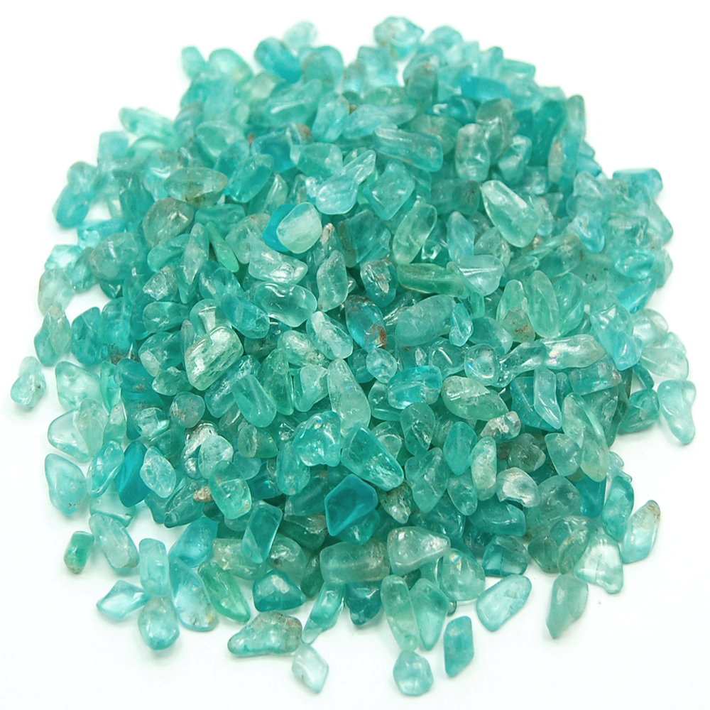 Discontinued - Tumbled Neon Apatite Mini Chips (India)