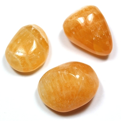 Tumbled Orange Calcite (Mexico) - Tumbled Stones photo 2