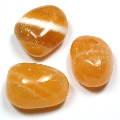 Tumbled Orange Calcite (Mexico) - Tumbled Stones